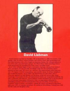 David Liebman. Developing a Personal Saxophone Sound