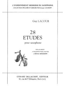 28 этюдов для саксофона. Guy Lacour