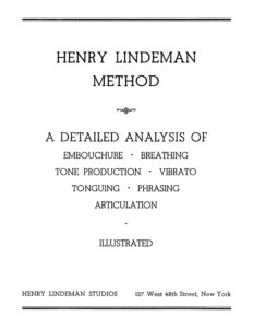 Henry Lindeman. Method for Saxophone
