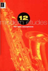 12 современных этюдов для саксофона соло. James Rae