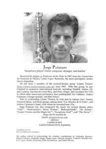 Тенор и альт саксофон. Jorge Polanuer