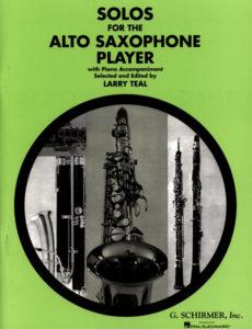 Соло для альт-саксофониста в сопровождении фортепиано. Larry Teal