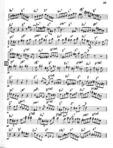 Phil Woods. Improvised Saxophone Solos